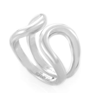 Hermes Lima Womens Sterling Silver Openwork Band Ring