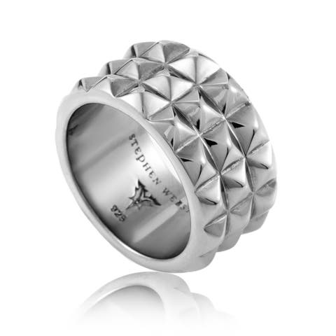 Alchemy in the UK Mens Sterling Silver Band Ring 3013843002