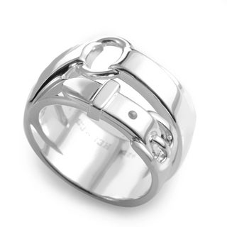 Hermes Debridee Womens Sterling Silver Ring Band Ring