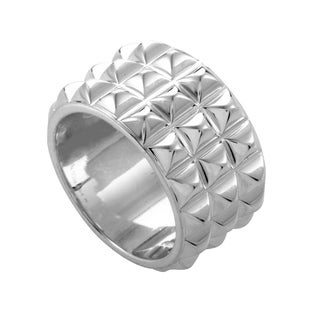 Hermes Medor Womens Sterling Silver Band Ring (2 options available)