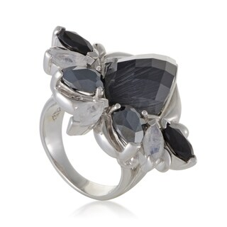 Stephen Webster Pop Superstud Womens Silver Spinel Hematite and Cat's Eye Ring