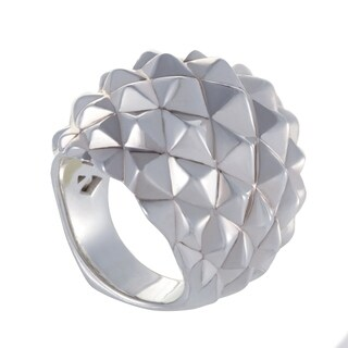 Superstud Womens Silver Dome Cocktail Ring