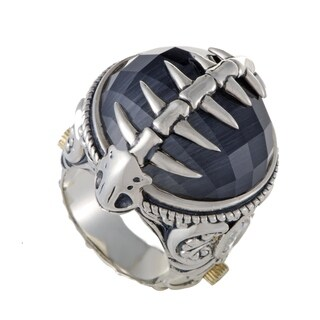 Stephen Webster Jewels Verne Womens Silver Cat's Eye and Quartz Cocktail Ring