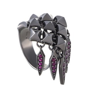 Stephen Webster Superstud Womens Silver and Dangling Ruby Ring