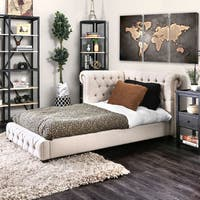 Furniture of America Colette Transitional Tufted Twin-size Corner Bed