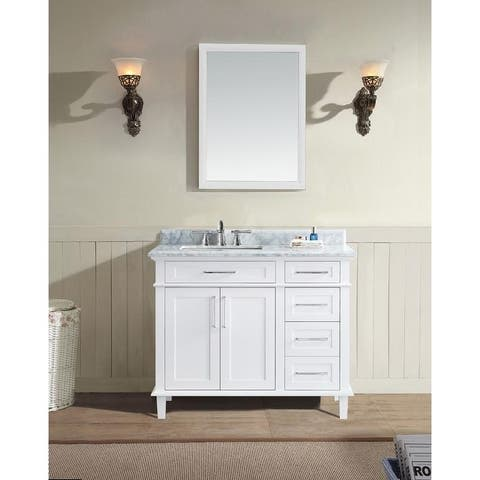 "Newport 42"" Bathroom Vanity White"