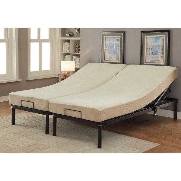 Furniture of America Belton Adjustable King-size Metal Bed Frame ...