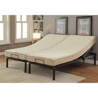 Furniture of America Belton Adjustable King-size Metal Bed Frame