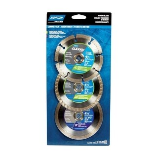 Norton Classic 4-1/2 in. Dia. Diamond Saw Blade Combo Pack