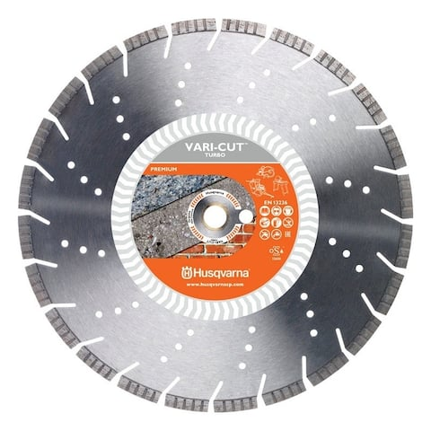 Husqvarna Vari-Cut Turbo 14 in. Dia. x 1 in. Diamond Saw Blade Segmented