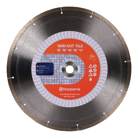 Husqvarna Vari-Cut Tile 14 in. Dia. For Wet/Dry Diamond Saw Blade