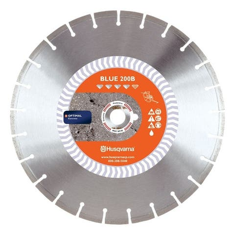 Husqvarna Banner Line Blue 200B 18 in. Dia. Diamond Saw Blade For Wet