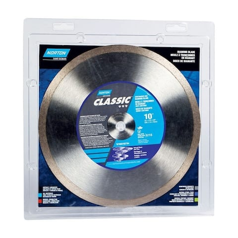 Norton Classic 10 in. Dia. Continuous Rim Diamond Saw Blade For Natural Stone and Tiles