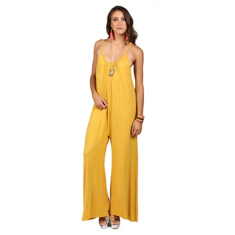 Xehar Womens Spaghetti Strap Scoop Neck Jumpsuit