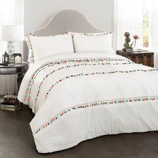 Lush Decor Boho Tassel 3 Piece Comforter Set (2 options available)