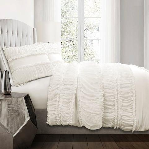 Lush Decor Nova Ruffle 3 Piece Comforter Set
