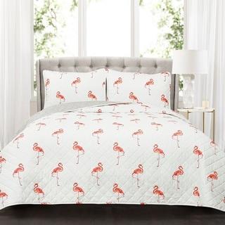 Lush Decor Kelly Flamingo 3 Piece Quilt Set