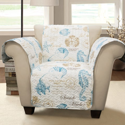 Lush Decor Harbor Life Arm Chair Furniture Protector
