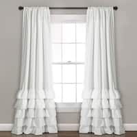 "Lush Decor Allison Ruffle Window Curtain Panel Pair - 40""w x 84""l"