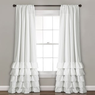 Lush Decor Allison Ruffle Window Curtain Panel Pair