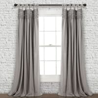 Lush Decor Lydia Ruffle Window Curtain Panel Pair