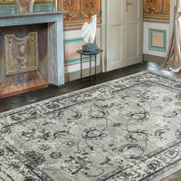 Ottomanson Royal Collection Distressed Floral Design Area Rug (8' X 10')
