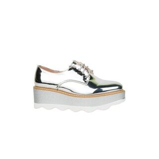 Xehar Womens Metallic Shiny Lace Up Platform Fashion Sneakers (3 options available)