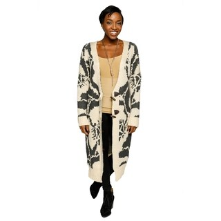 Xehar Womens V-Neck Long Sleeve Button Floral Print Cardigan Sweater