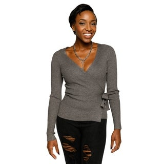 Xehar Womens Sexy Wrap Ribbon Cardigan Knit Sweater