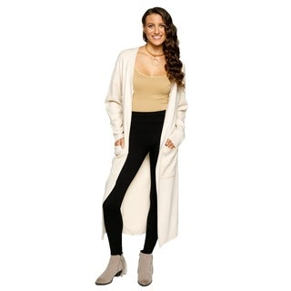Xehar Womens Casual V-Neck Front Zip Long Cardigan Sweater