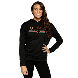 Xehar Womens Embroidered Queen Pullover Hoodie Sweater