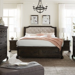 Bellamy Traditional Peppercorn Sleigh Storage Bed