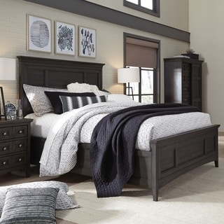 distressed black bedroom furniture distress black westley falls relaxed traditional graphite panel bed with storage rails black distressed bedroom furniture find great deals