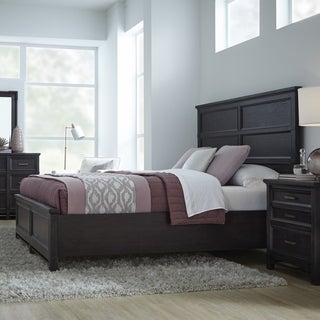 Grafton Avenue Transitional Panel Bed in Midnight Mink