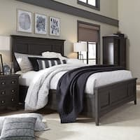 Westley Falls Relaxed Traditional Graphite Panel Bed