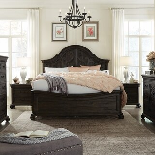 Bellamy Traditional Peppercorne Shaped Panel Bed