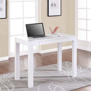 Porch & Den Alley White Desk with Drawer
