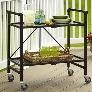Havenside Home Alexandra Outdoor Folding Serving Cart