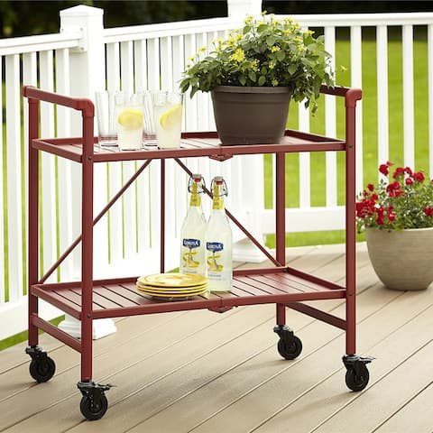 Alexandra Outdoor Folding Serving Cart by Havenside Home