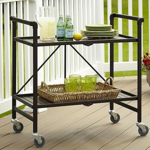 Havenside Home Alexandra Outdoor Folding Serving Cart
