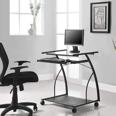 Avenue Greene Brentshire Black Mobile Computer Desk