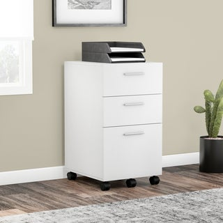 Porch & Den Wicker Park Throop White Mobile File Cabinet