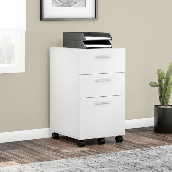 Porch U0026amp; Den Wicker Park Throop White Mobile File Cabinet