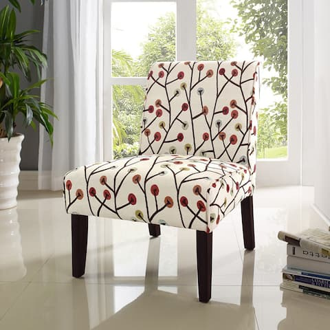 Avenue Greene Jericho Floral Armless Accent Chair