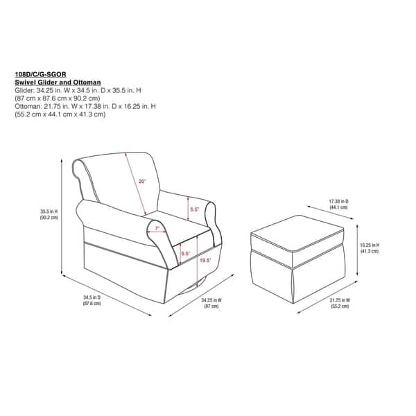 Superb Shop Baby Relax Kelcie Swivel Glider And Ottoman Set On Andrewgaddart Wooden Chair Designs For Living Room Andrewgaddartcom