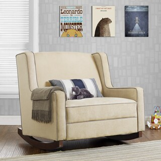 Avenue Greene 'Baby Relax Hadley' Microfiber Double Rocker (2 options available)