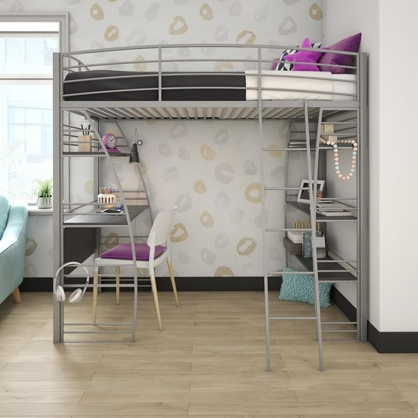 14f059a5ea88 Shop Avenue Greene Sansa Twin Loft Bed with Integrated Desk and ...