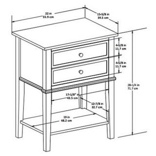 Copper Grove Kurdica 2-drawer Accent Table