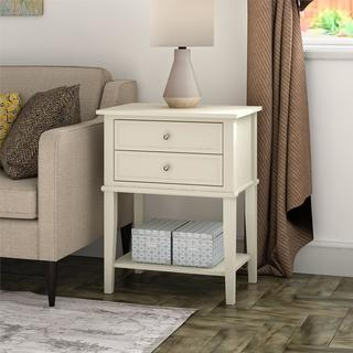 Copper Grove Kurdica White 2-drawer Accent Table