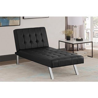 clay alder home isleton emily twin size chaise lounger futon chair for less   overstock    rh   overstock
